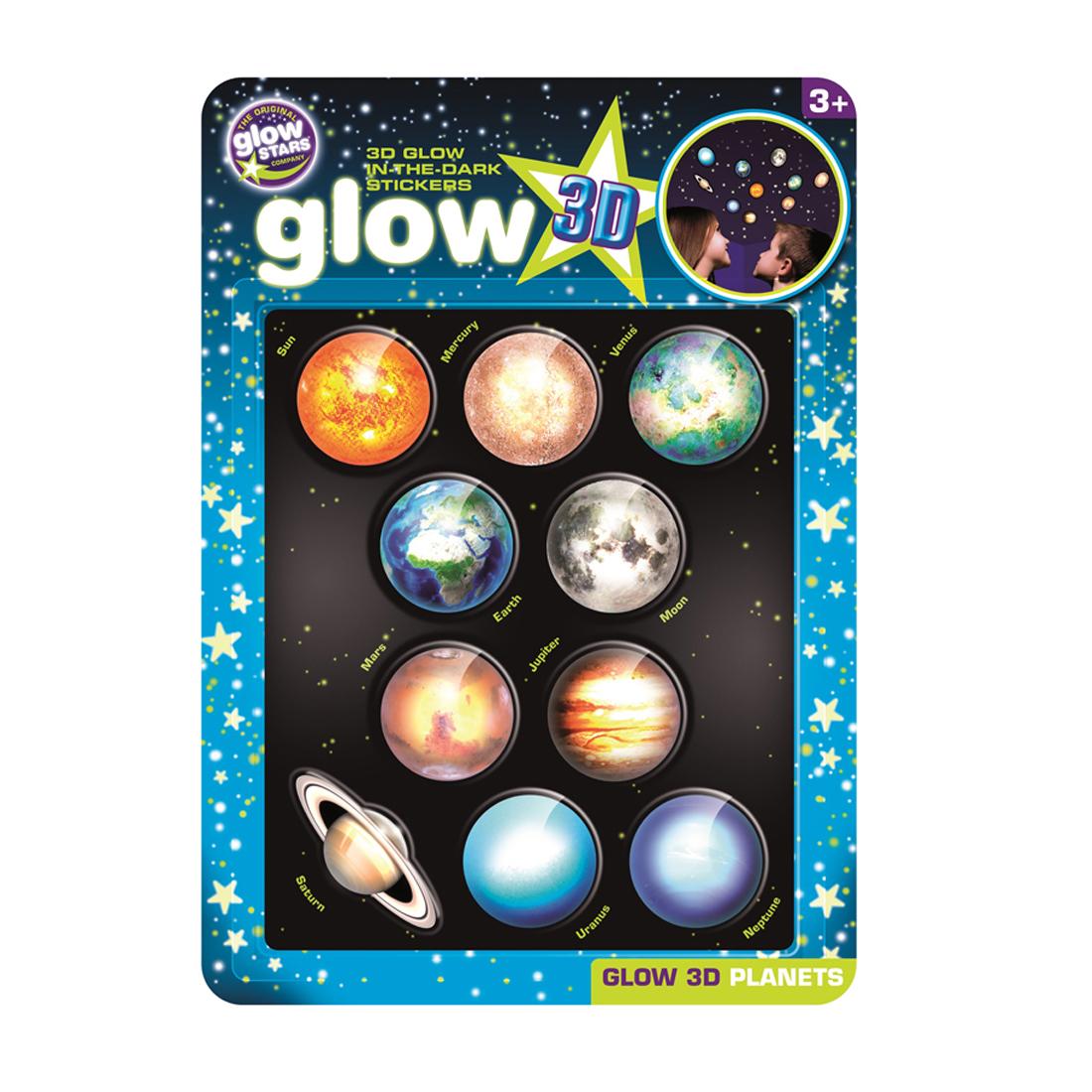 Αυτοκόλλητοι Πλανήτες 3d Glow